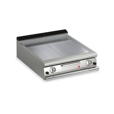 BARON 2 Burner Gas Fry Top With Ribbed Mild Steel Plate