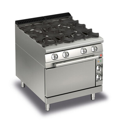 BARON 4 Burner Gas Cook Top With Gas Oven