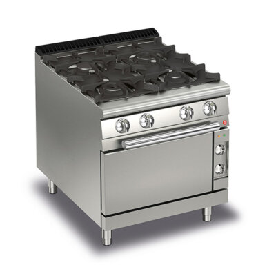 BARON 4 Burner Gas Cook Top With Electric Oven