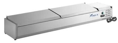 Salad Bench with Stainless Steel Lids – XVRX2000/380S – 9 x 1/3GN