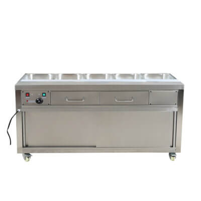 Heated Bain Marie Food Display without Glass Top – PG180FE-B