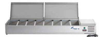 Salad Bench with Stainless Steel Lids – XVRX1800/380S – 8 x 1/3GN
