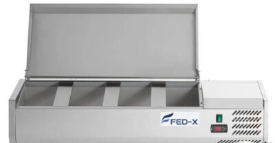 Salad Bench with Stainless Steel Lid – XVRX1200/380S – 4 x 1/3GN